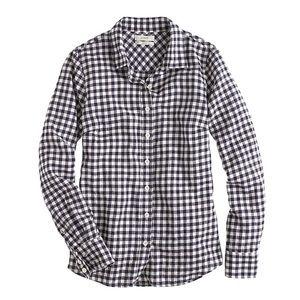 NEW J Crew perfect gingham checkered Perfect shirt